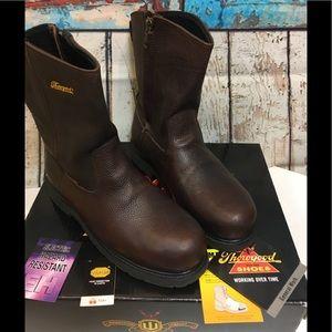 Thorogood Brown Side Zip Wellington I Met Boot 14